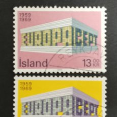 Sellos: ISLANDIA, EUROPA CEPT 1969 USADA, (FOTOGRAFÍA REAL). Lote 204113738