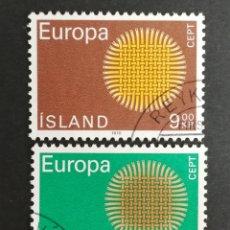 Sellos: ISLANDIA, EUROPA CEPT 1970 USADA (FOTOGRAFÍA REAL). Lote 204115007