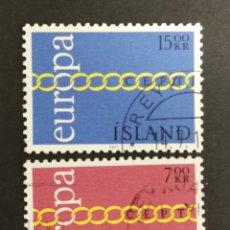 Sellos: ISLANDIA, EUROPA CEPT 1971 USADA (FOTOGRAFÍA REAL). Lote 204115713