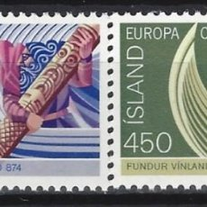 Sellos: ISLANDIA 1982 - EUROPA, ACONTECIMIENTOS HÍSTORICOS, S.COMPLETA - SELLOS NUEVOS**. Lote 204746507