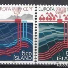 Sellos: ISLANDIA 1983 - EUROPA, INVENTOS, S.COMPLETA - SELLOS NUEVOS **. Lote 204747131