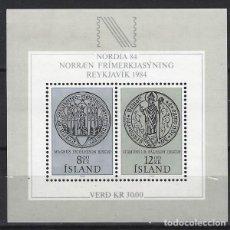 Sellos: ISLANDIA 1983 - HB EXPO. FILATÉLICA NORDIA 84 - NUEVA **. Lote 204747743