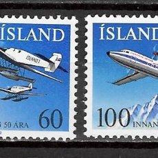 Sellos: ISLANDIA Nº 485 AL 486 (**). Lote 205285732
