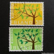 Sellos: ISLANDIA, EUROPA CEPT 1962 COMPLETA Y USADA (FOTOGRAFÍA REAL). Lote 205564810