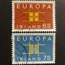 Sellos: ISLANDIA, EUROPA CEPT 1963 COMPLETA Y USADA (FOTOGRAFÍA REAL). Lote 205570208