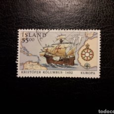 Timbres: ISLANDIA YVERT 716 SELLO SUELTO USADO. EUROPA CEPT. 500 DESCUBRIMIENTO AMÉRICA. CARABELA DE COLÓN. Lote 206506143