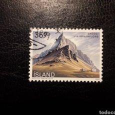 Sellos: ISLANDIA YVERT 657 SELLO SUELTO USADO. PAISAJES Y MONTAÑAS. Lote 206506825
