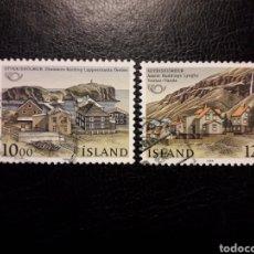 Sellos: ISLANDIA YVERT 603/4 SERIE COMPLETA USADA. CIUDADES HERMANADAS. Lote 206507458
