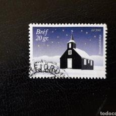 Sellos: ISLANDIA YVERT 926 SELLO SUELTO USADO. NAVIDAD.. Lote 206515060
