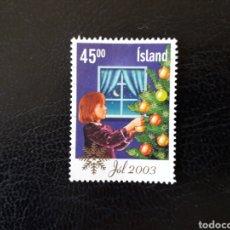 Sellos: ISLANDIA YVERT 977 SELLO SUELTO USADO. ÁRBOL DE NAVIDAD.. Lote 206515302