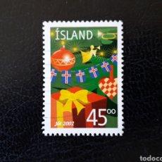 Sellos: ISLANDIA YVERT 952 SELLO SUELTO USADO. NAVIDAD. REGALOS Y ADORNOS. Lote 206515517