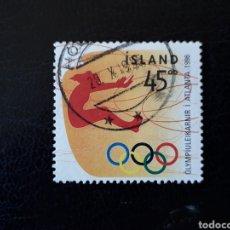 Sellos: ISLANDIA YVERT 801 SELLO SUELTO USADO. DEPORTES. OLIMPIADA DE ATLANTA 96 SALTO DE LONGITUD. Lote 206516678