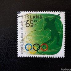 Sellos: ISLANDIA YVERT 802 SELLO SUELTO USADO. DEPORTES. OLIMPIADA DE ATLANTA 96. LANZAMIENTO DE PESO. Lote 206516826