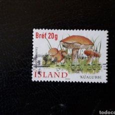 Sellos: ISLANDIA YVERT 928 SELLO SUELTO USADO. FLORA. SETAS. Lote 206517690