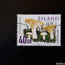 Sellos: ISLANDIA YVERT 878 SELLO SUELTO USADO. FLORA. SETAS. Lote 206517832