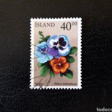 Sellos: ISLANDIA YVERT 895 SELLO SUELTO USADO. FLORA. FLORES. Lote 206517998
