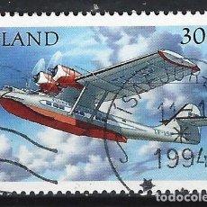 Sellos: ISLANDIA 1993 - HIDROAVIONES, CONSOLIDATED CATALINA TF-ISP - SELLO USADO. Lote 206541700
