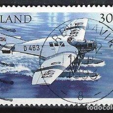 Sellos: ISLANDIA 1993 - HIDROAVIONES, JUNKERS F-13, D-463 - SELLO USADO. Lote 206541752