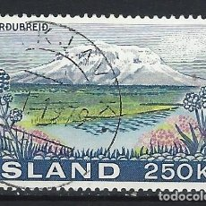 Sellos: ISLANDIA 1972 - MONTAÑA HERDUBREID - SELLO USADO. Lote 206541915