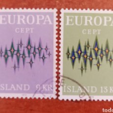 Selos: ISLANDIA, EUROPA CEPT 1972 USADA (FOTOGRAFÍA REAL). Lote 212502153