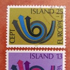 Sellos: ISLANDIA, EUROPA CEPT 1973 USADO (FOTOGRAFÍA REAL). Lote 213330098