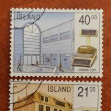 Timbres: ISLANDIA, EUROPA CEPT 1990 USADO (FOTOGRAFÍA REAL). Lote 213730213