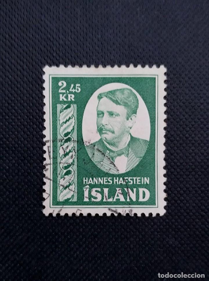 SELLO DE ISLANDIA, 1954, HOMENAJE A HANNES HAFSTEIN (Sellos - Extranjero - Europa - Islandia)