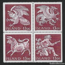 Sellos: ISLANDIA. YVERT NSº 626/29 NUEVOS. Lote 218642368