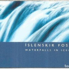 Sellos: ISLANIA CARNET BOOKLET WATERFALLS CASCADAS AGUA WATER GEOLOGIA. Lote 219724171