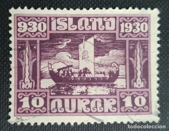 SELLO POSTAL DE ISLANDIA 1930 MILENARIO DEL PARLAMENTO ISLANDÉS 12 AUR (Sellos - Extranjero - Europa - Islandia)