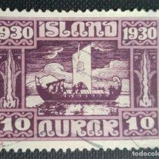 Sellos: SELLO POSTAL DE ISLANDIA 1930 MILENARIO DEL PARLAMENTO ISLANDÉS 12 AUR. Lote 220082096