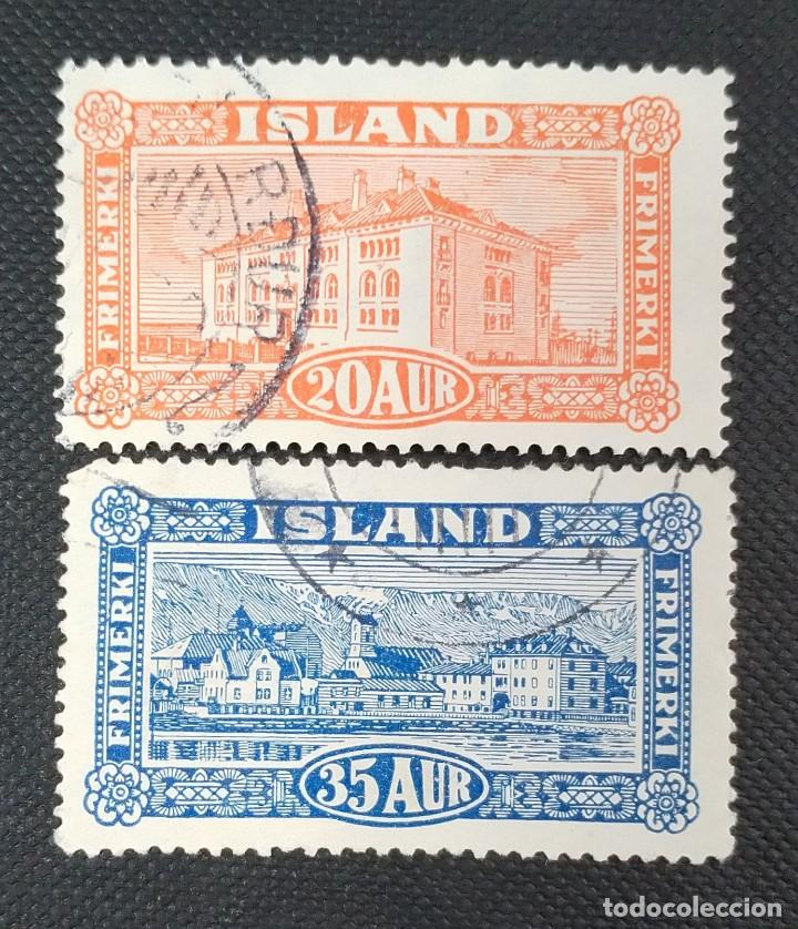 SELLOS POSTALES DE ISLANDIA 1925 PAISAJES (Sellos - Extranjero - Europa - Islandia)