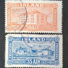 Sellos: SELLOS POSTALES DE ISLANDIA 1925 PAISAJES. Lote 220083687