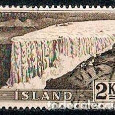 Sellos: ISLANDIA Nº 521, 265, CATARATAS DE DETTI, USADO. Lote 224503656