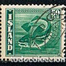 Sellos: ISLANDIA IVERT Nº 196, BACALAO, USADO. Lote 224505885