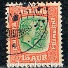 Sellos: ISLANDIA IVERT Nº 53 (AÑO 1907), REYES CHISTIAN IX Y FEDERICO VIII, USADO. Lote 224506467