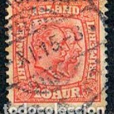 Sellos: ISLANDIA IVERT Nº 52 (AÑO 1907), REYES CHISTIAN IX Y FEDERICO VIII, USADO. Lote 224506562
