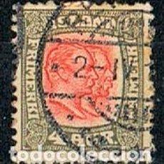 Sellos: ISLANDIA IVERT Nº 49 (AÑO 1907), REYES CHISTIAN IX Y FEDERICO VIII, USADO. Lote 224506697