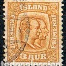 Timbres: ISLANDIA IVERT Nº 48 (AÑO 1907), REYES CHISTIAN IX Y FEDERICO VIII, USADO. Lote 224506821