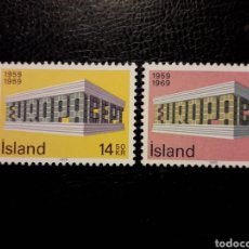 Timbres: ISLANDIA YVERT 384/5 SERIE COMPLETA NUEVA ***. EUROPA CEPT 1969.. Lote 224562407