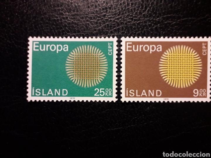 ISLANDIA YVERT 395/6 SERIE COMPLETA NUEVA ***. EUROPA CEPT 1970. (Sellos - Extranjero - Europa - Islandia)