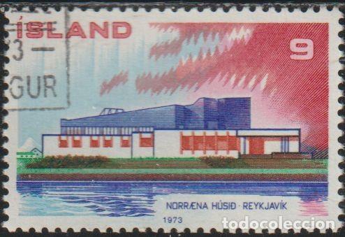 ISLANDIA 1973 SCOTT 454 SELLO * NORDEN CASA DEL NORTE NORRENA HUSID REYKJAVIK MICHEL 478 YVERT 431 (Sellos - Extranjero - Europa - Islandia)