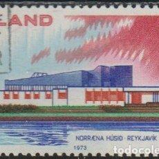 Sellos: ISLANDIA 1973 SCOTT 454 SELLO * NORDEN CASA DEL NORTE NORRENA HUSID REYKJAVIK MICHEL 478 YVERT 431. Lote 226984565