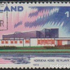 Sellos: ISLANDIA 1973 SCOTT 455 SELLO * NORDEN CASA DEL NORTE NORRENA HUSID REYKJAVIK MICHEL 479 YVERT 432. Lote 226984680