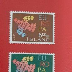 Sellos: SELLOS ISLANDIA AÑO 1961 CEPT NUEVOS. Lote 228135455