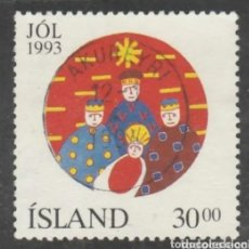 Sellos: ISLANDIA 1993 NAVIDAD SELLO USADO. Lote 228927925