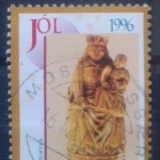 Sellos: ISLANDIA NAVIDAD 1996 SELLO USADO. Lote 229462000