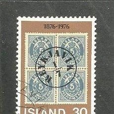 Sellos: ISLANDIA 1976 - YVERT NRO. 471 - USADO - MATASELLADO DE FAVOR. Lote 230705180