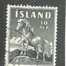Sellos: ISLANDIA 1958 - YVERT NRO. 283 - USADO. Lote 230707905