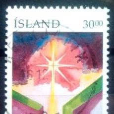 Sellos: ISLANDIA 1991 NAVIDAD SELLO USADO. Lote 232778090